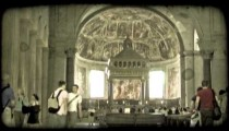 Cathedral Art 12. Vintage stylized video clip.