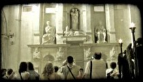 Cathedral Art 10. Vintage stylized video clip.