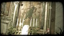 Cathedral Art 9. Vintage stylized video clip.