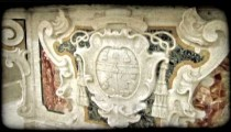 Cathedral Art 6. Vintage stylized video clip.