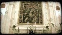 Cathedral Art 5. Vintage stylized video clip.
