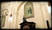 Cathedral Art 3. Vintage stylized video clip.