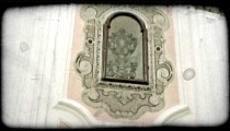 Cathedral Art 1. Vintage stylized video clip.