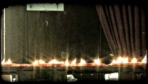 Candles on Alter 2. Vintage stylized video clip.