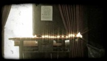 Candles on Alter 1. Vintage stylized video clip.