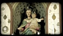 Mary and Christ. Vintage stylized video clip.