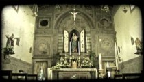 Italian cathedral 11. Vintage stylized video clip.