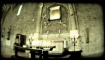 Italian cathedral 10. Vintage stylized video clip.