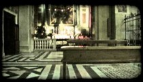 Italian cathedral 9. Vintage stylized video clip.