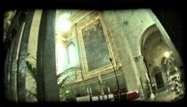 Italian cathedral 7. Vintage stylized video clip.