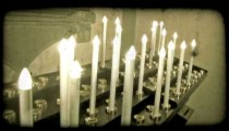 Cathedral candles 1. Vintage stylized video clip.