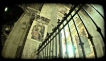 Italian cathedral 6. Vintage stylized video clip.