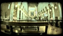 Italian cathedral 5. Vintage stylized video clip.