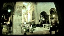Italian cathedral 4. Vintage stylized video clip.