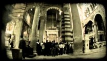 Italian cathedral 3. Vintage stylized video clip.