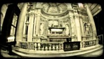 Italian cathedral 2. Vintage stylized video clip.