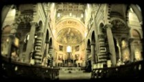 Italian cathedral 1. Vintage stylized video clip.