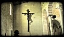 Crucifix Statue 1. Vintage stylized video clip.