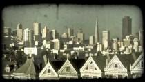 Alamo Square 4. Vintage stylized video clip.