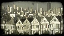 Alamo Square 3. Vintage stylized video clip.