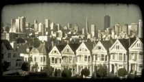 Alamo Square 2. Vintage stylized video clip.