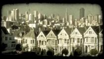 Alamo Square 1. Vintage stylized video clip.