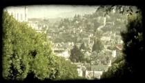 San Francisco hill. Vintage stylized video clip.