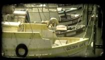 San Fransisco dock 3. Vintage stylized video clip.