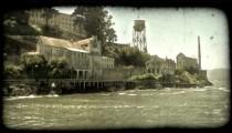 Alcatraz station 2. Vintage stylized video clip.