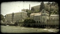 Alcatraz station 1. Vintage stylized video clip.