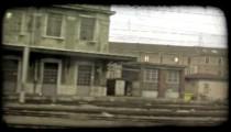 Italian Train 2. Vintage stylized video clip.