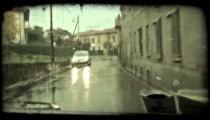 Italian Car 2. Vintage stylized video clip.