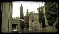 Italian Car 1. Vintage stylized video clip.