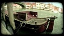 Venice Canal 13. Vintage stylized video clip.