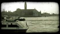 Venice Canal 12. Vintage stylized video clip.