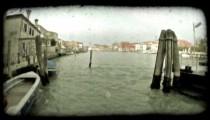 Venice Canal 11. Vintage stylized video clip.