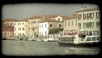 Venice Canal 10. Vintage stylized video clip.
