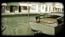 Motor Boat 23. Vintage stylized video clip.