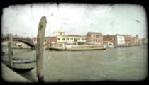 Venice Canal 9. Vintage stylized video clip.