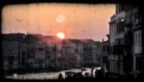 Venice Canal 4. Vintage stylized video clip.