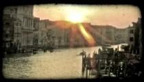 Venice Canal 3. Vintage stylized video clip.