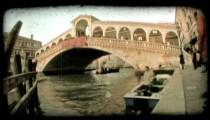Venice Bridge 3. Vintage stylized video clip.