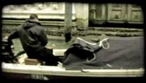 Motor Boat 3. Vintage stylized video clip.