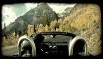 Mountain in autumn. Vintage stylized video clip.