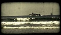 Tourist cruise boat 1. Vintage stylized video clip.