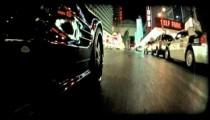 Black car in Vegas 2. Vintage stylized video clip.