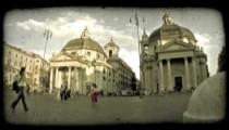 Rome Time Lapse. Vintage stylized video clip.