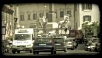 Steet Time lapse. Vintage stylized video clip.