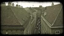 Vienna buildings. Vintage stylized video clip.