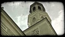 Austrian church 2. Vintage stylized video clip.